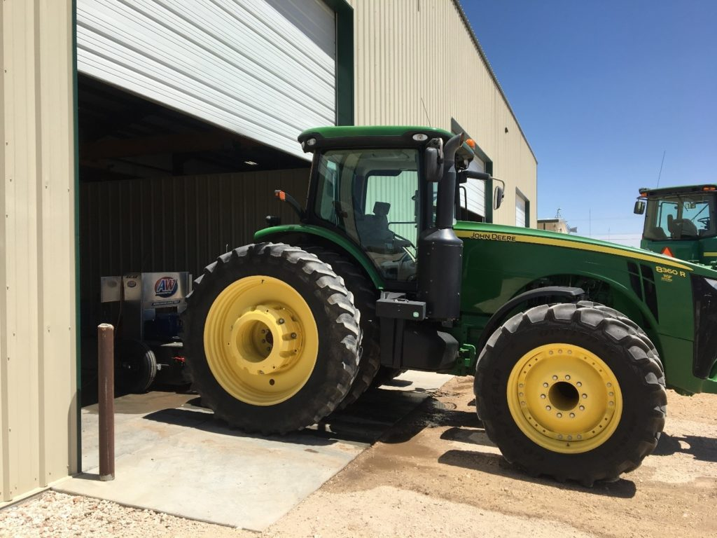 John Deere tractor hooked to an AW Dynamometer